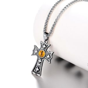 New stainless steel cross necklace